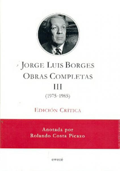 OBRAS COMPLETAS - TOMO 3 (ED.CRITICA)