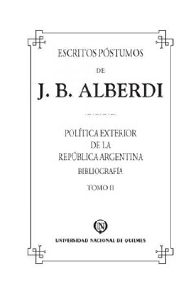 ESCRITOS POSTUMOS DE J.B.ALBERDI