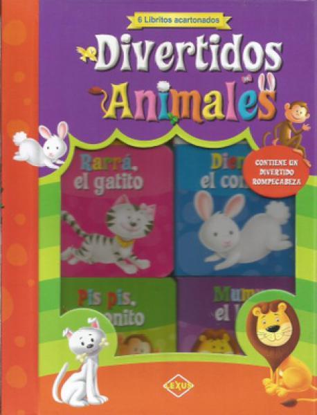 DIVERTIDOS ANIMALES 6 LIBRITOS ACARTONAD