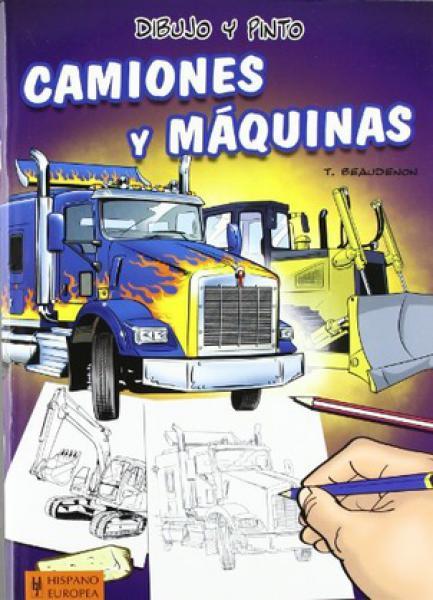 DIBUJO Y PINTO CAMIONES Y MAQUINAS