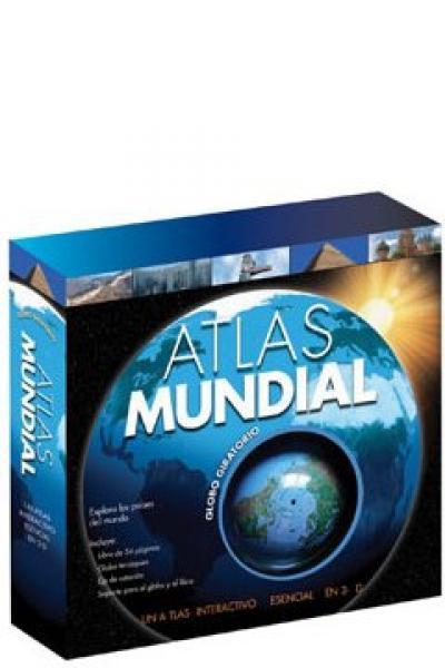 ATLAS MUNDIAL CON GLOBO GIRATORIO