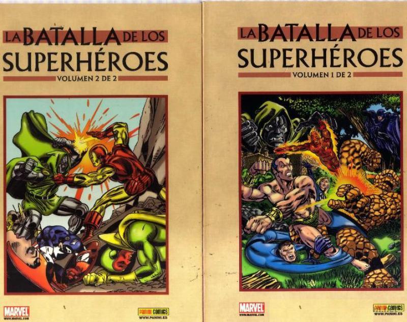 LA BATALLA DE LOS SUPERHEROES - 2 TOMOS
