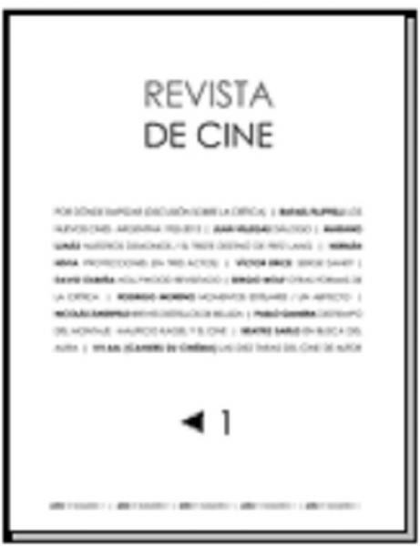 REVISTA DE CINE Nº1